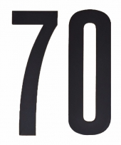 Huisvuil containerstickers cijfer 70 10 cm