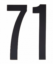 Huisvuil containerstickers cijfer 71 10 cm