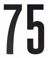 Huisvuil containerstickers cijfer 75 10 cm