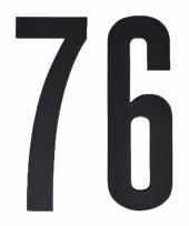 Huisvuil containerstickers cijfer 76 10 cm
