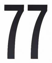 Huisvuil containerstickers cijfer 77 10 cm