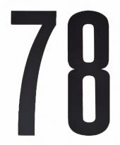 Huisvuil containerstickers cijfer 78 10 cm