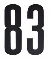 Huisvuil containerstickers cijfer 83 10 cm