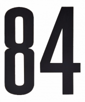 Huisvuil containerstickers cijfer 84 10 cm