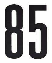 Huisvuil containerstickers cijfer 85 10 cm