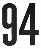 Huisvuil containerstickers cijfer 94 10 cm