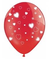 Huwelijk ballonnen met hartjes 6x
