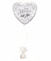 Huwelijk versiering ballon just married inclusief ballon gewicht