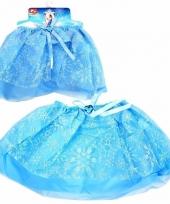 Ijsprinses verkleedrokje blauw