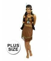 Indianen jurk prarie met franjes plus size