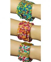 Indianen kralen armband roze blauw