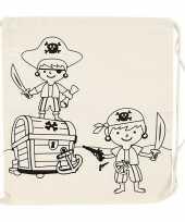 Inkleurbaar rugtasje piraat 41 cm