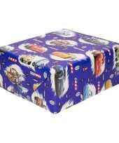 Inpakpapier cadeaupapier disney cars 200 x 70 cm blauw