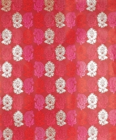 Inpakpapier rood met bloemetjes 70 x 200 cm