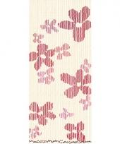 Insecten deurgordijn houten kralen bloemen 220 cm