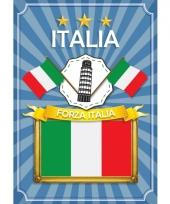 Italia deurposter groen wit rood