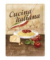 Italiaanse pasta metalen plaat