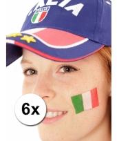 Italiaanse supporters tattoo 6 stuks