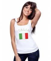Italiaanse vlag tanktop singlet voor dames