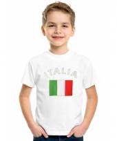 Italiaanse vlaggen t-shirts voor kinderen