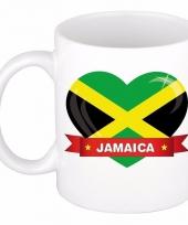Jamaicaanse vlag hart mok beker 300 ml