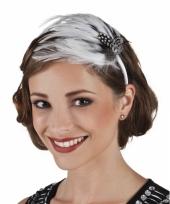 Jaren 20 haar accessoire met witte veren