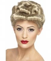 Jaren 40 pruiken blond haar