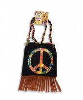 Jaren zestig schoudertas peace