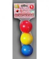 Jeu des boules ballen gekleurd 3 stuks