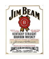 Jim beam decoratie muurplaat
