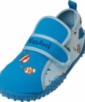 Jongens waterschoentjes blauw met visjes
