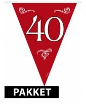 Jubileum 40 jaar versiering pakket