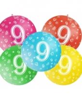 Jumbo ballon 9 jaar
