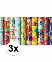 K3x adopapier met olifanten print 200 x 70 cm