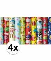 K4x adopapier met olifanten print 200 x 70 cm