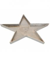 Kaarsenplateau ster van metaal 37cm