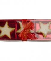 Kaarsensetje met 3 sterren