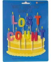 Kaarsjes voor op taart met tekst lost count
