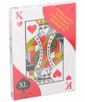 Kaartspel extra groot 28 x 20 cm