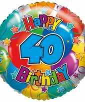 Kado ballon 40e verjaardag 35 cm