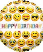 Kado ballon emoticon verjaardag 35 cm 10105594