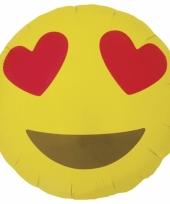 Kado ballon hart emoticon 46 cm