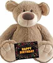 Kado knuffel beer 100 cm gratis verjaardagskaart