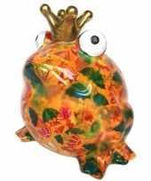 Kado mega spaarpot kikker oranje 28 cm 10096115