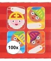 Kado stickers sint cartoon 100 stuks