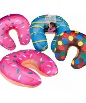 Kado voor moederdag roze donut nekkussen