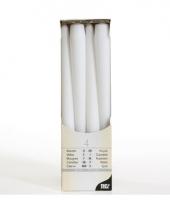 Kandelaar kaarsen wit 25 cm