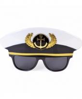 Kapitein accessoires bril voor volwassenen