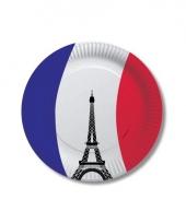 Kartonnen bordjes met vlag van frankrijk 10x