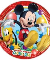 Kartonnen bordjes mickey mouse 8 stuks